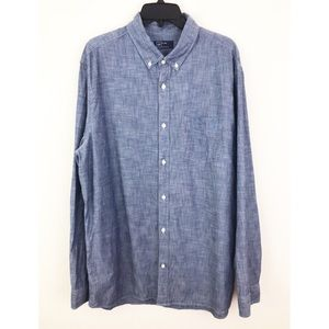 Gap Chambray Button Down Shirt XL Tall